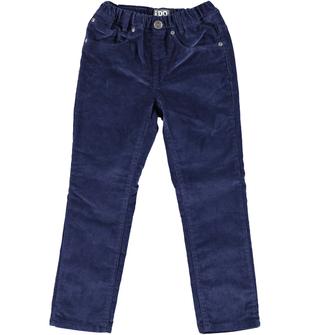 Pantalone bambino in velluto elasticizzato ido NAVY - 3854