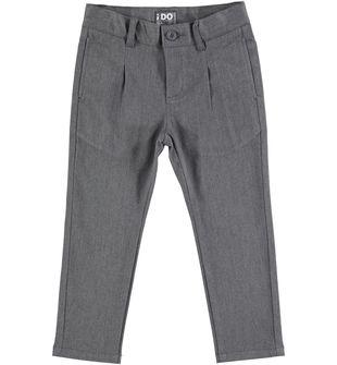 Pantalone bambino modello cavallo calalo in twill stretch ido GRIGIO MELANGE-8993