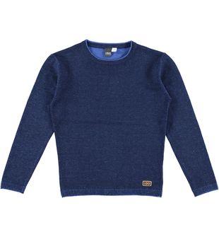Maglia bambino in tricot misto cotone e lana ido BLU-AVION-8235