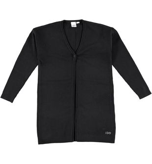 Cardigan bambina in tricot misto viscosa ido NERO - 0658