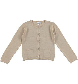 Cardigan in tricot di viscosa con filato lurex ido BEIGE-0924