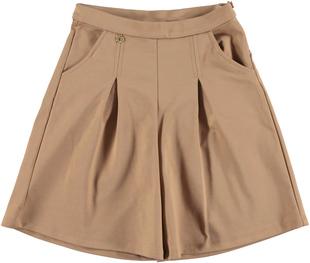 Gonna pantalone in punto milano con pinces frontali ido NOCCIOLA-0937