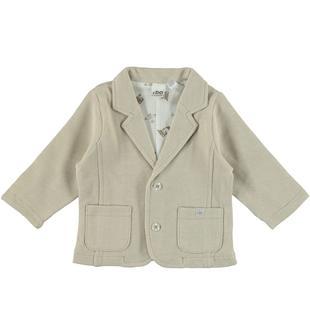 Elegante giacca a manica lunga in cotone 100% ido BEIGE-0436
