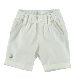 Pantalone corto in tessuto navetta 100% cotone ido PANNA-0112