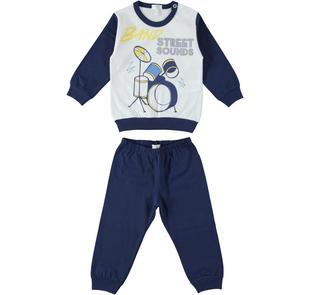 Pigiama bicolore bambino in jersey 100% cotone ido BLU-3542