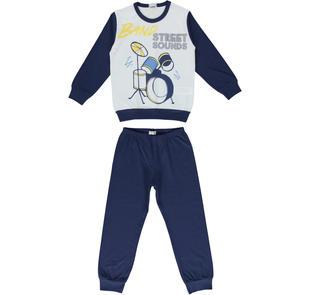 Pigiama in jersey 100% cotone ido BLU-3542