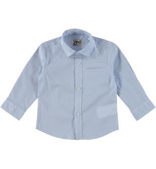Camicia classica a manica lunga in cotone ido BLU-3632