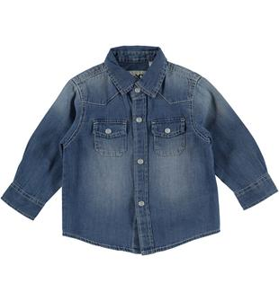 Camicia jeans con taschine davanti ido STONE WASHED CHIARO-7400