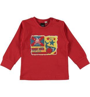 Pratica maglietta 100% cotone ido ROSSO-2256