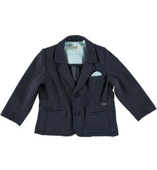 Giacca in jersey pesante effetto pois ido NAVY-3856