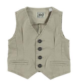 Gilet classico in twill di cotone stretch ido BEIGE-BEIGE-6S38