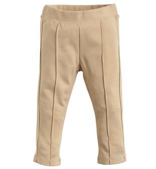 Pantalone lungo con venature cucite effetto stiro ido BEIGE-0925