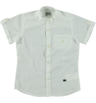 Camicia 100% cotone a manica corta ido PANNA-0112