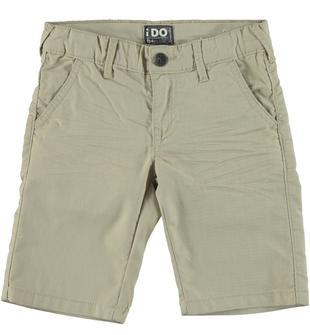 Pantalone corto misto cotone ido BEIGE-0436