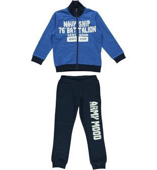 Tuta 100% cotone con giacchetto a manica lunga con collo alto ido BLUETTE-BLU-8013
