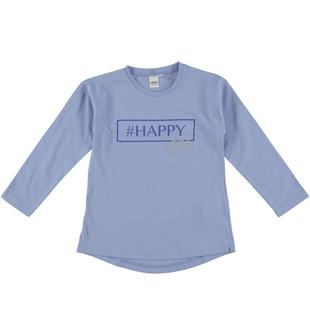 Maglietta 100% cotone con stampa #happy ido AVION-3621