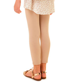 Pantalone lungo modello leggings in tessuto punto milano ido BEIGE-0925