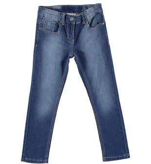 Pantalone lungo modello 5 tasche vestibilità slim ido STONE WASHED CHIARO-7400