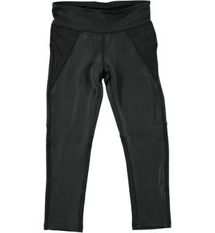 Pantalone in tessuto elastico effetto lucido ido NERO-0658