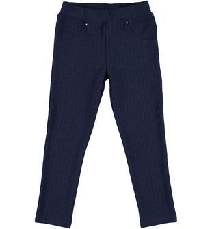 Pantalone lungo con lavorazione jacquard ido NAVY-3854