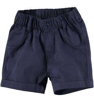 Pantalone corto in cotone ido NAVY-3856