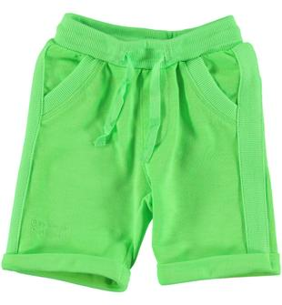 Pantalone corto in felpa stretch ido GREEN FLUO-5822
