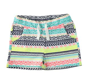 Short in cotone fiammato con fantasie colorate ido BIANCO-MULTICOLOR-6U31