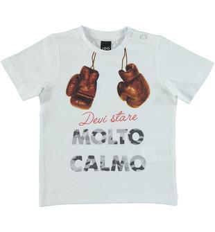 Spiritosa t-shirt 100% cotone a mezza manica per bambino da 6 a 36 ... 70cf44b0f699