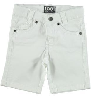 Pantalone corto in twill di cotone stretch ido BIANCO-0113