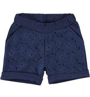 Pantalone short in felpa leggera 100% cotone ido NAVY-3854