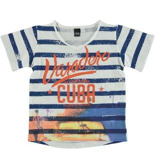 T-shirt 100% cotone ispirata alle spiagge di Cuba ido PANNA-0112