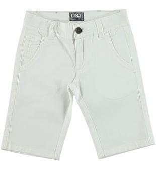 Pantalone corto in cotone elasticizzato ido PANNA-0112