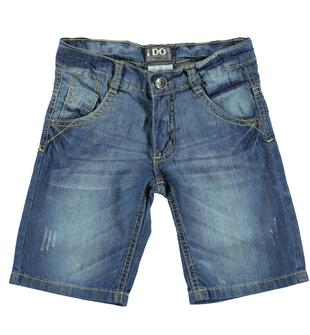 Pantalone corto in denim 100% cotone ido STONE WASHED-7450