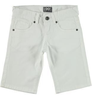 Pantalone corto in cotone elasticizzato ido BIANCO-0113