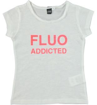 T-shirt 100% cotone con stampa di stelle fotosensibile ido BIANCO-0113