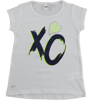 T-shirt smanicata in jersey 100% cotone ido BIANCO-0113