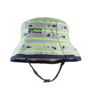 Cappellino bicolore 100% cotone con tartarughine ido GRIGIO MELANGE-FLUO VERDE-6T89