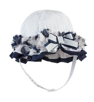 Cappellino bicolore 100% cotone ido BIANCO-BLU-8020