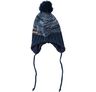 Cappello in misto lana e acrilico effetto melange ido NAVY-3856