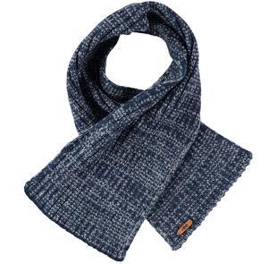 Sciarpa in tricot misto acrilico e lana ido NAVY-3856