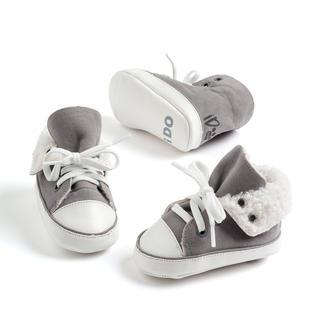 Scarpine modello sneakers in ecopelle ido GRIGIO-0518
