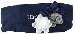 Deliziosa fascia in cotone elasticizzato con fiocco e roselline ido NAVY-3854