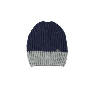 Cappello bicolore in tricot lurex ido BLU-GRIGIO-8299