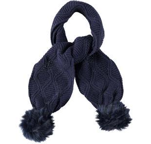 Sciarpa in tricot misto acrilico e lana ido NAVY-3854