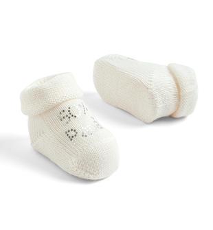 Dolcissimi e tenerissimi calzini in misto lana ido PANNA-0112
