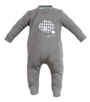 Tutina neonato con piedino in felpa garzata ido GRIGIO MELANGE-8967