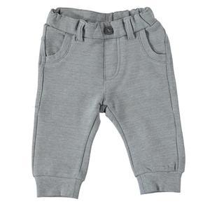 Pantalone in felpa di cotone garzata internamente ido GRIGIO MELANGE-8967