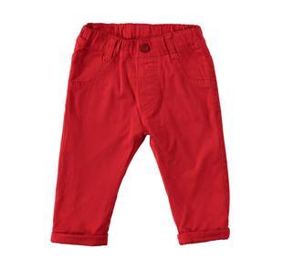 Pantalone foderato in tessuto 100% cotone ido ROSSO-2253