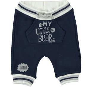 Pantalone lungo in felpa garzata internamente ido NAVY-3856