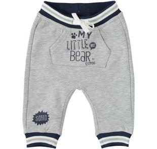 Pantalone lungo in felpa garzata internamente ido GRIGIO MELANGE-8992